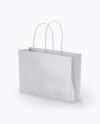 Glossy Paper Bag Mockup - Half Side View