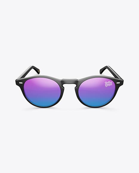 Sunglasses Mockup - Front View (High Angle Shot)