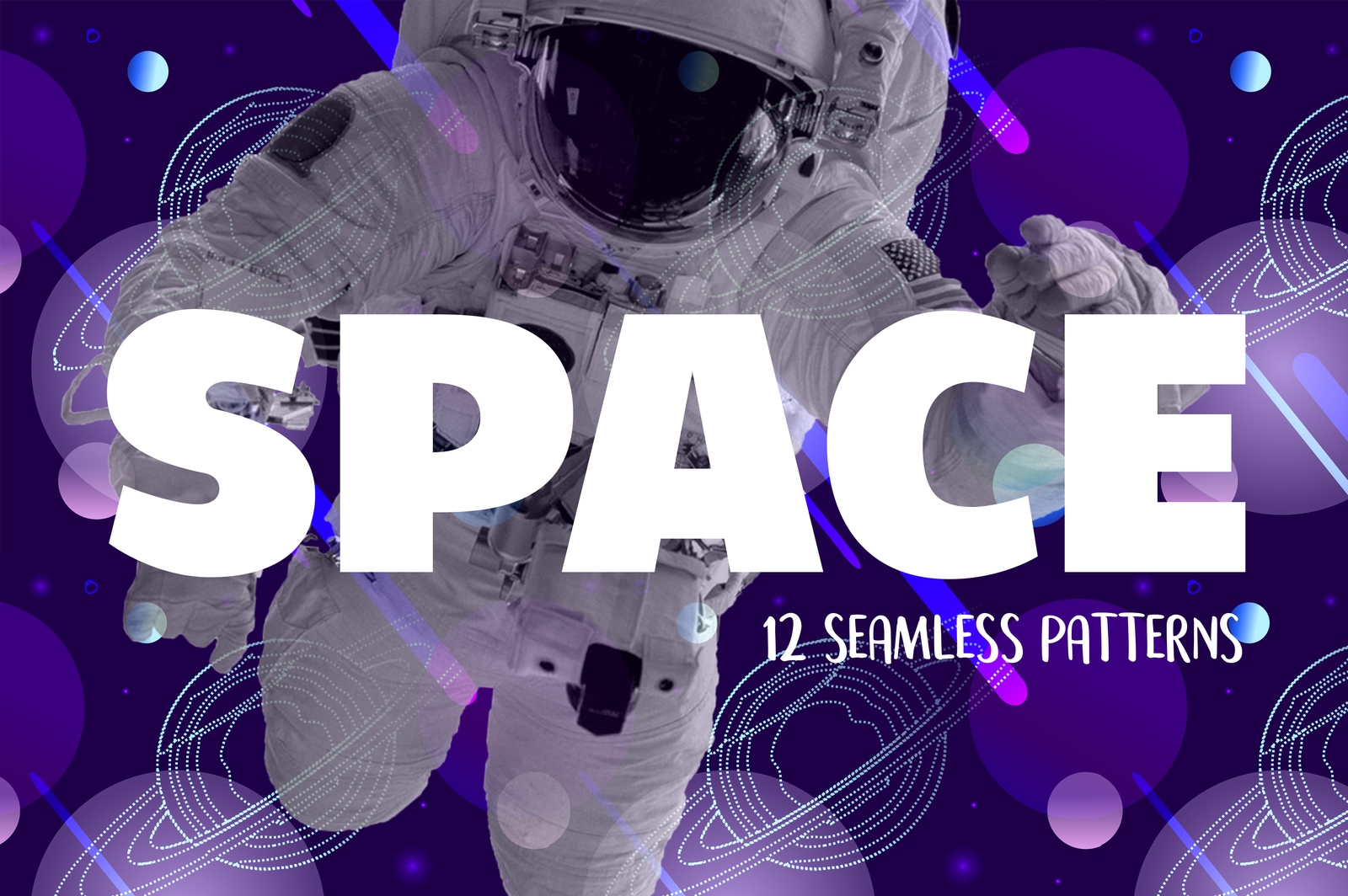 SPACE - seamless patterns