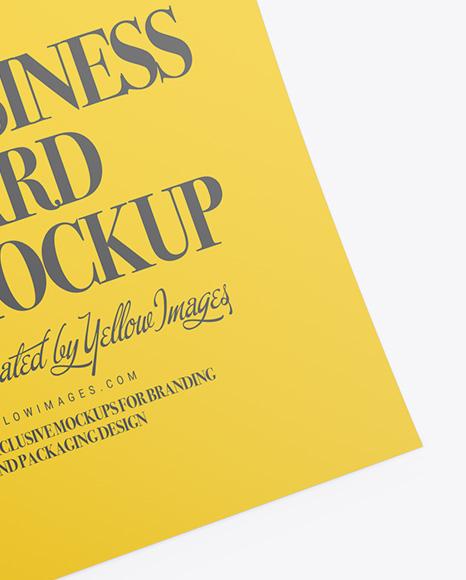 Business Card Mockup - Half Side View
