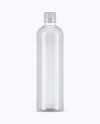 Clear PET Bottle With Tonic Water Mockup
