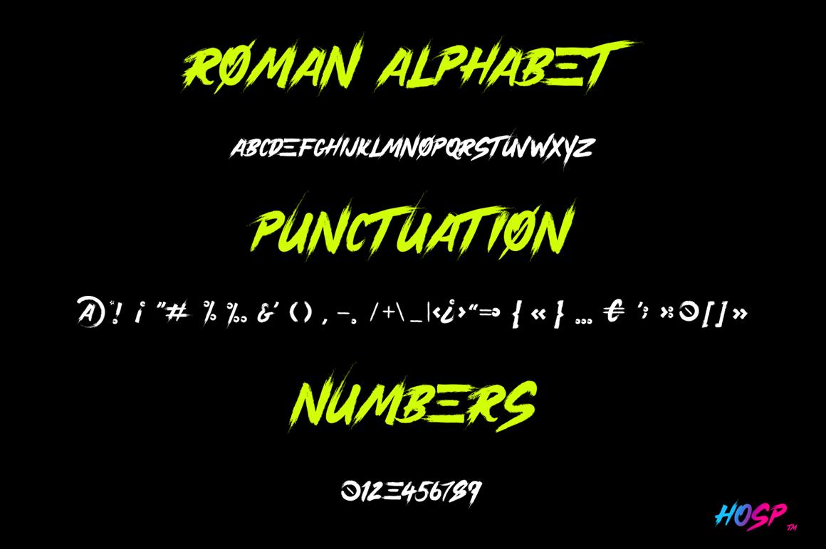 Hosp - Calligraphic Script