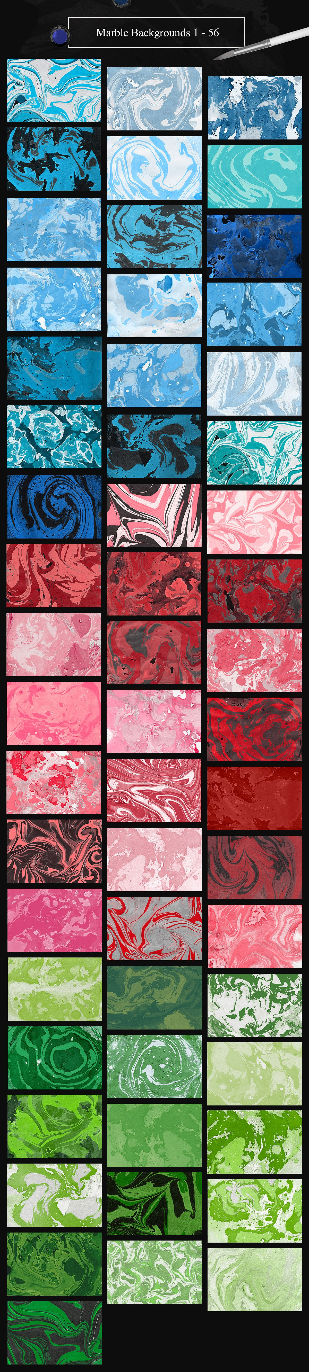 Marble Ink Monochromatic Backgrounds