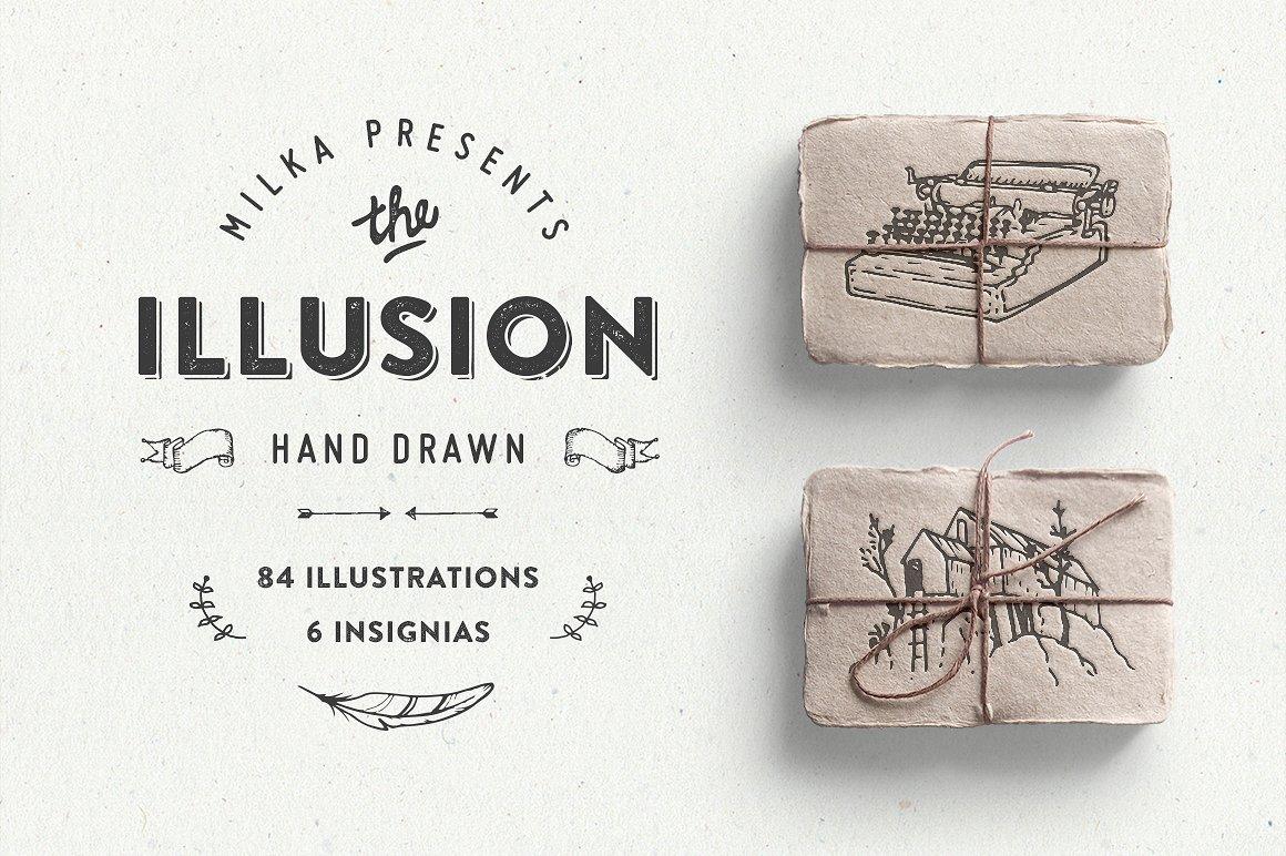 Illusion: hand drawn collection
