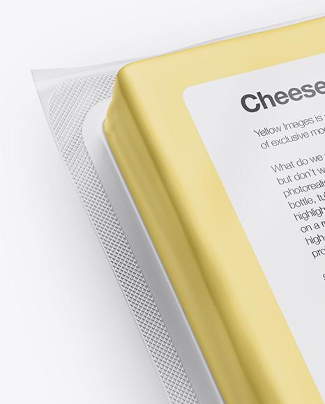 Cheese Pack Mockup - Front & Back Views (High-Angle Shot)