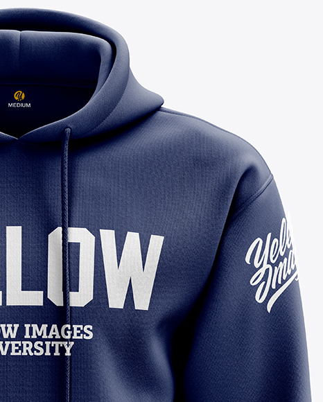 Download Men S Heavyweight Hoodie Mockup Front View In Apparel Mockups On Yellow Images Object Mockups