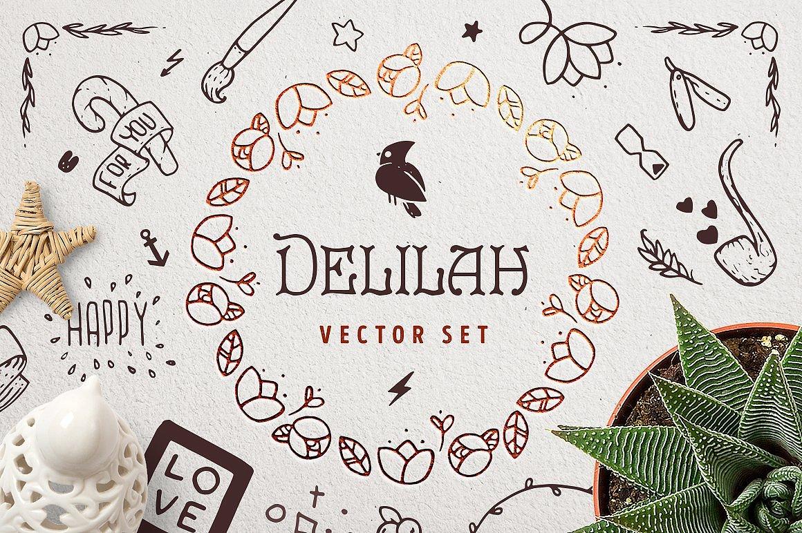 Delilah – Hand Drawn Vector Set