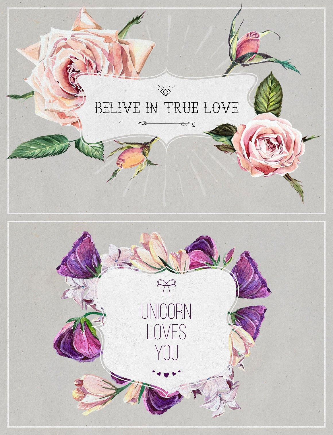 Florist: Watercolor Flowers Set