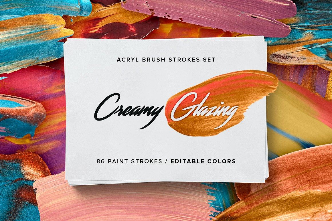Creamy Glazing - Acryl Brush Strokes