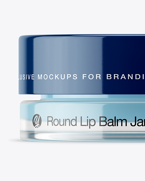 5ml Lip Balm Jar with Glossy Cap Mockup