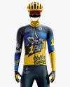 Men's Full Cycling Thermal Kit mockup (Front View)