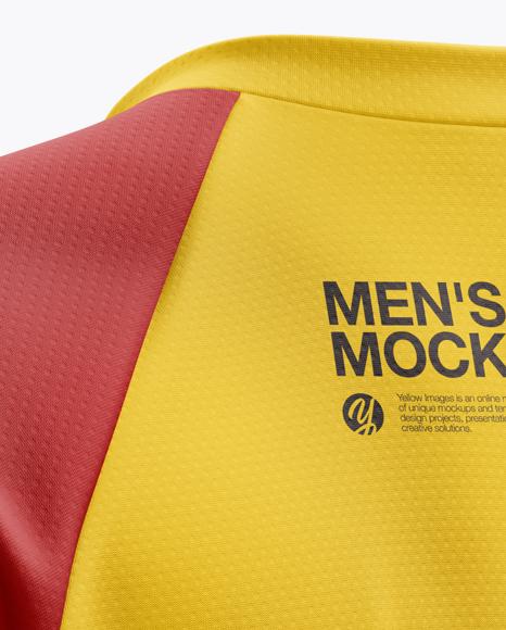 Men's MTB Trail Jersey mockup (Back Half Side View)
