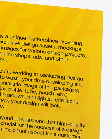 Business Card Mockup - Half Side View (High-Angle Shot)
