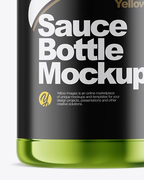 Metallic Sauce Bottle Mockup