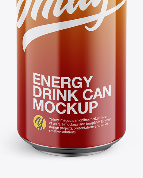 Download 330ml Glossy Aluminium Can Condensation Mockup Front View PSD - Free PSD Mockup Templates