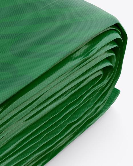 Folded Tarpaulin Mockup - Half Side View (High-Angle Shot)