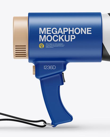 Matte Megaphone Mockup