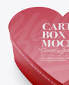 Heart Shaped Matte Carton Box Mockup - High-Angle Shot