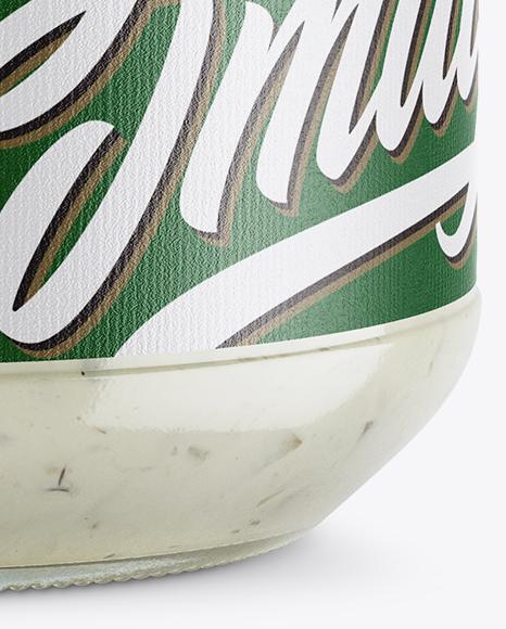 Glass Jar With Ramsons Spread Mockup