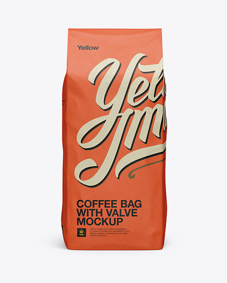 Download 2,5 kg Coffee Bag With Valve Mockup - Front View in Bag ...