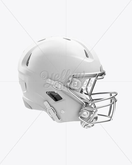 Matte American Football Helmet Mockup - Right View