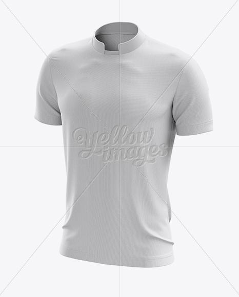 Soccer T-Shirt Mockup - Halfside View