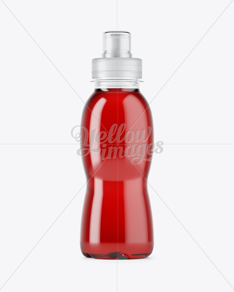 330ml PET Bottle W/ Berry Juice Mockup
