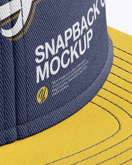 Download Snapback Cap Mockup Back Half Side View Yellowimages