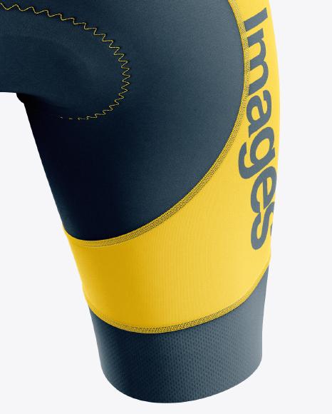 Men's Cycling Bib Shorts mockup (Back View)