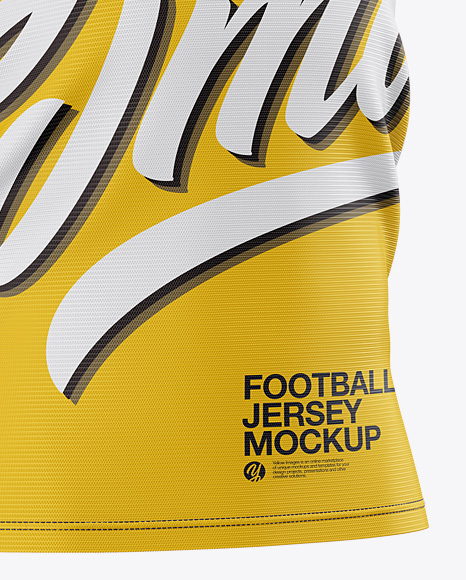 Men's Football Jersey Mockup - Halfside View