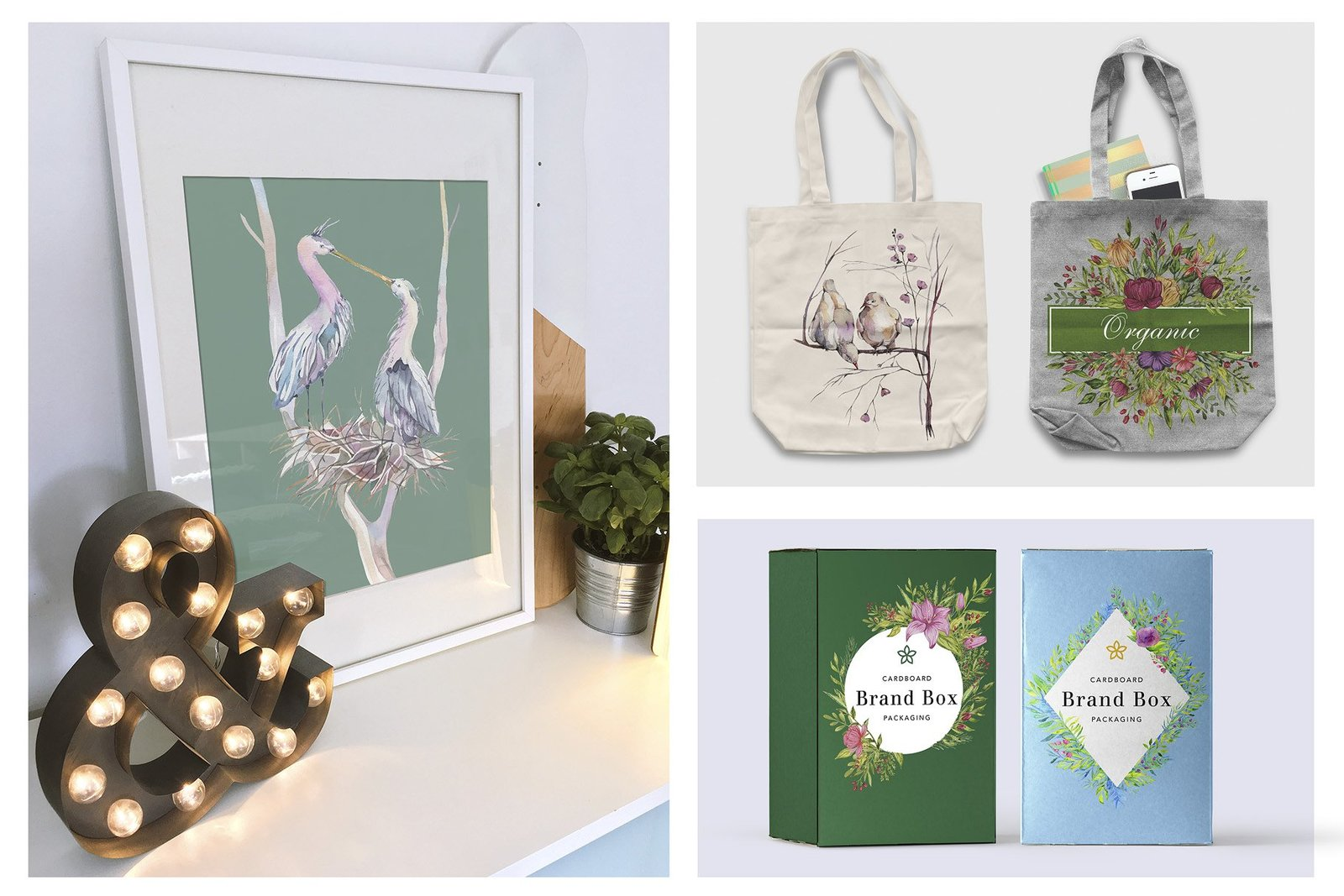 Spring Garden Watercolor Collection