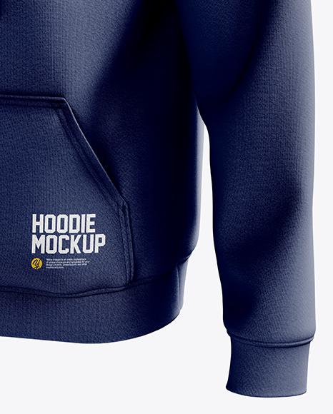 Men's Heavyweight Hoodie mockup (Half Side View)