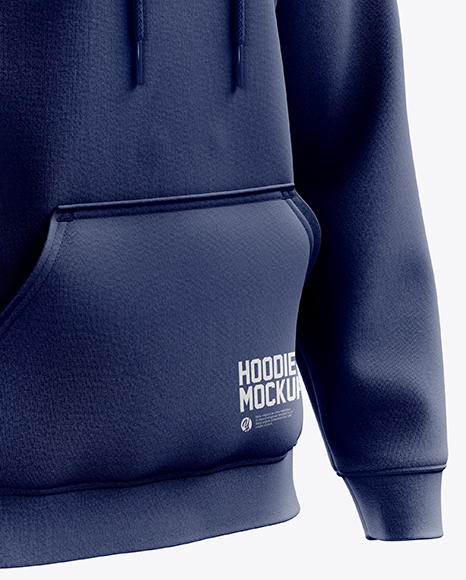 Men's Heavyweight Hoodie mockup (Right Half Side View)