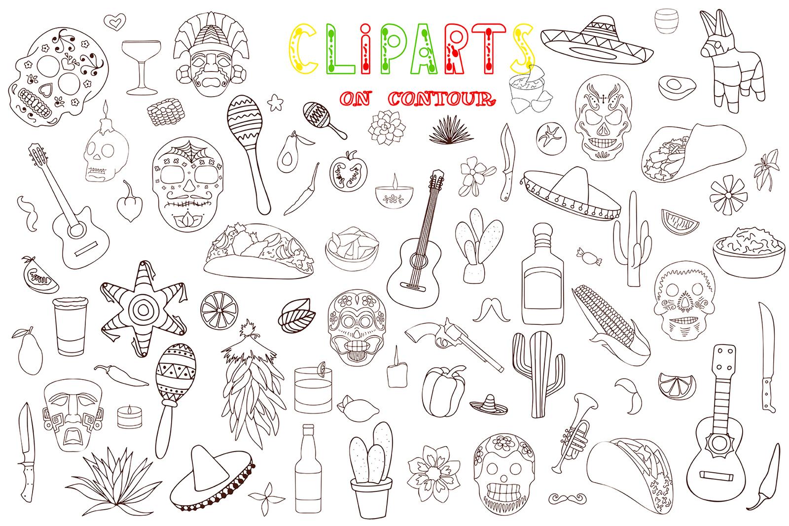 Felices Fiestas Clipart+Lettering