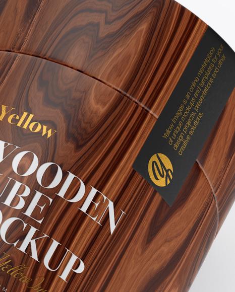 Wooden Tube Mockup - Half Side View