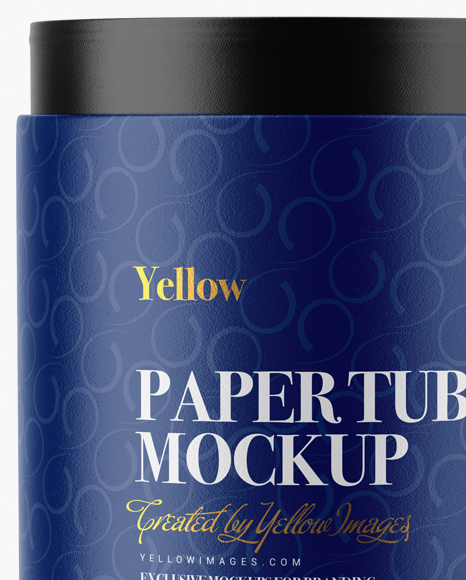Opened Paper Tube Mockup - Front View