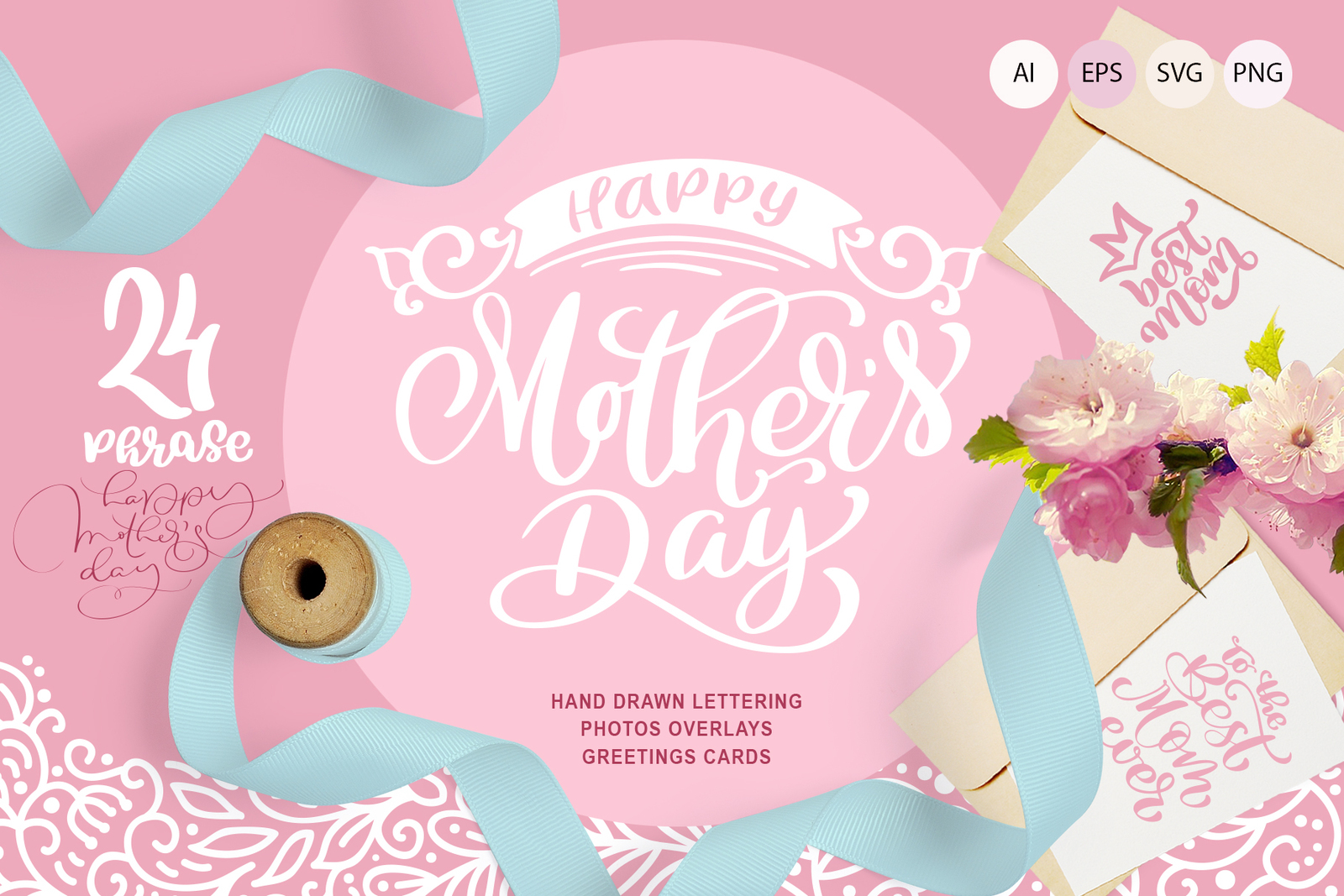 Mother`s Day greeting quotes and cards in Illustrations on