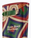 Rain Boot Mockup - Half Side View