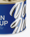 Glossy Tin Can Mockup - High-Angle Shot