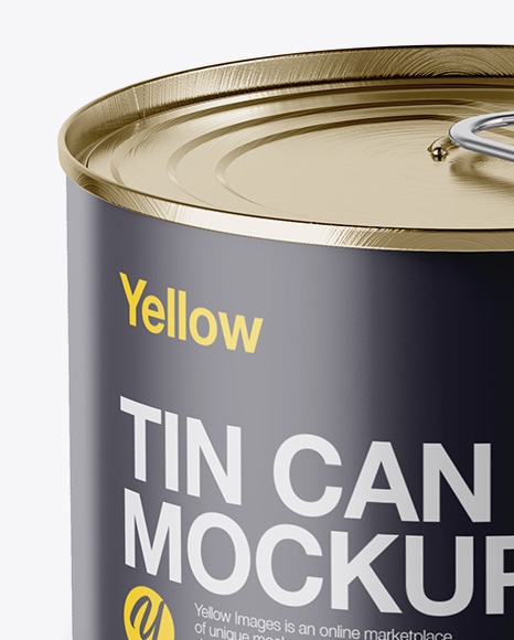 Matte Tin Can Mockup - High-Angle Shot