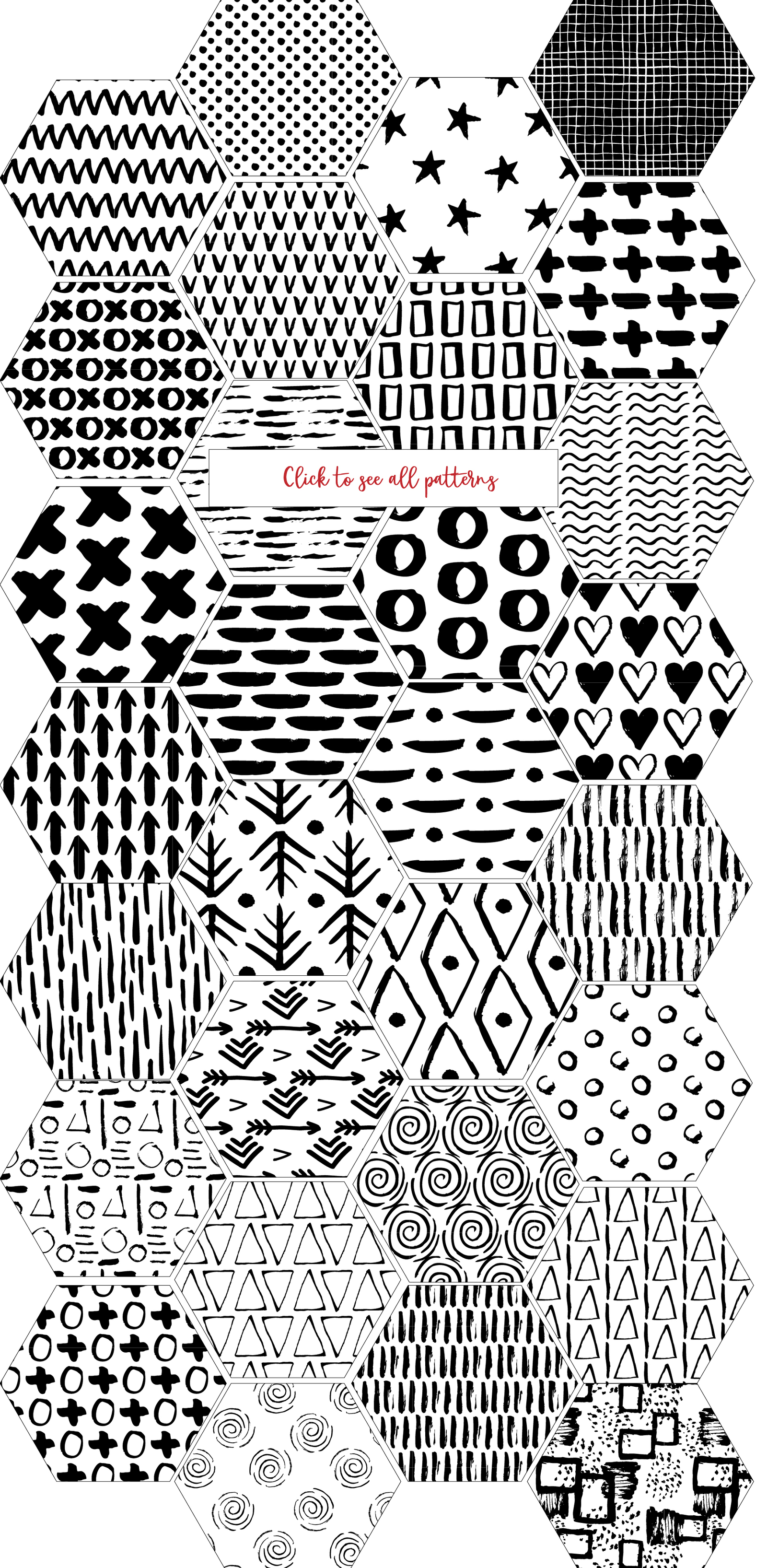 30 Seamless Ink Marks Patterns