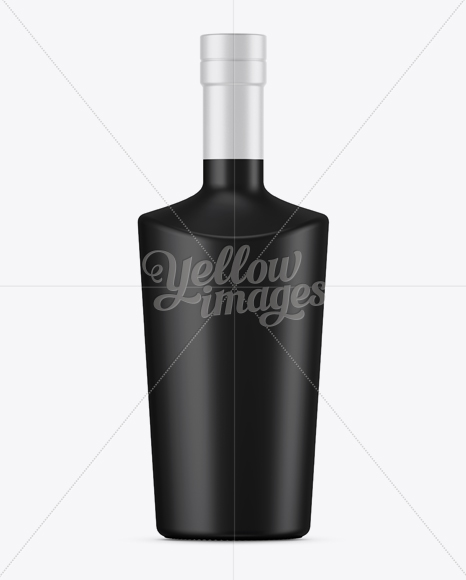 Download Black Mat Liquor Bottle Mockup Front View In Bottle Mockups On Yellow Images Object Mockups Yellowimages Mockups