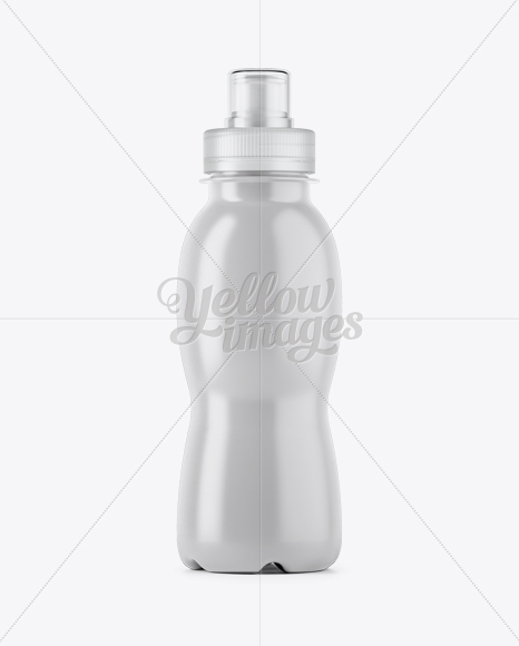 330ml White PET Bottle W/ Transparent Cap