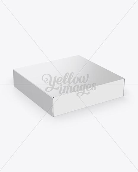 Download Carton Cake Box Halfside View High Angle Shot PSD - Free PSD Mockup Templates