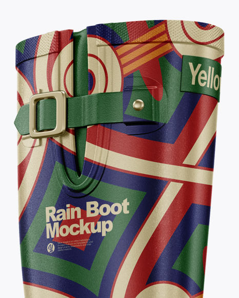 Rain Boot Mockup - Half Side View