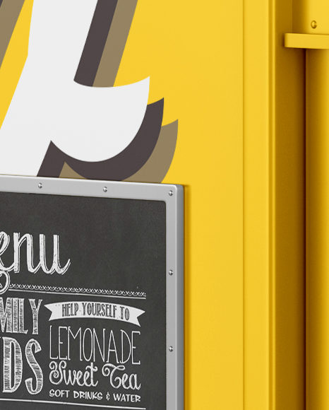 Food Truck Mockup - Side view
