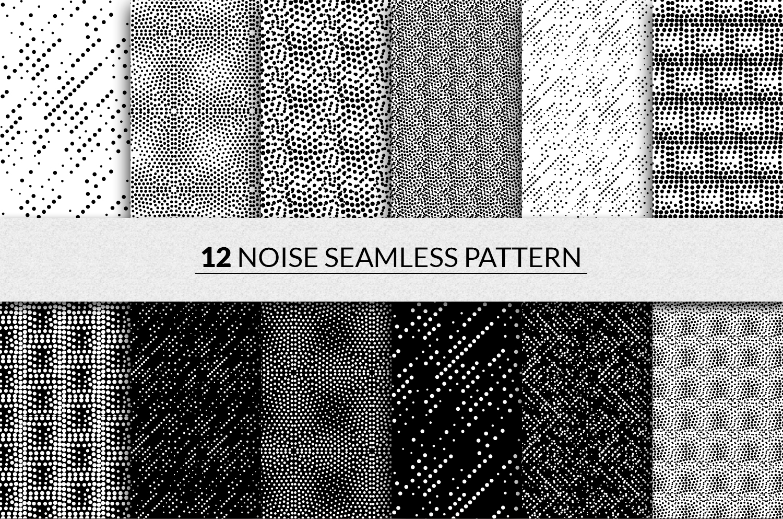 144 seamless pointillism patterns