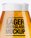 Teku Glass With Lager Beer Mockup