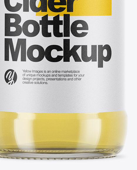 Download Clear Glass Cider Bottle Mockup In Bottle Mockups On Yellow Images Object Mockups PSD Mockup Templates