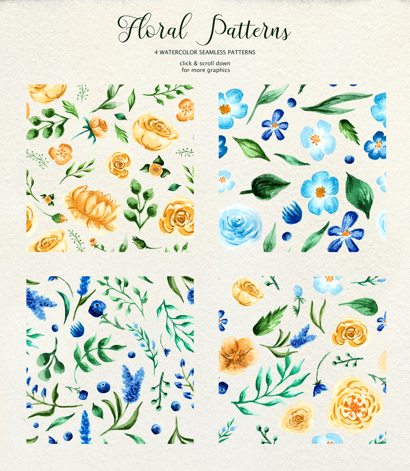 Birth of Watercolor Flower Set